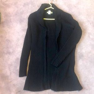black cardigan sweater !